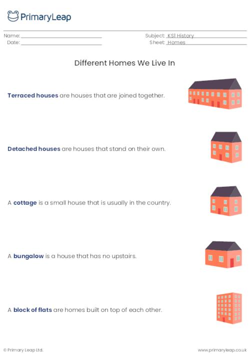 Information Sheet - Different Homes