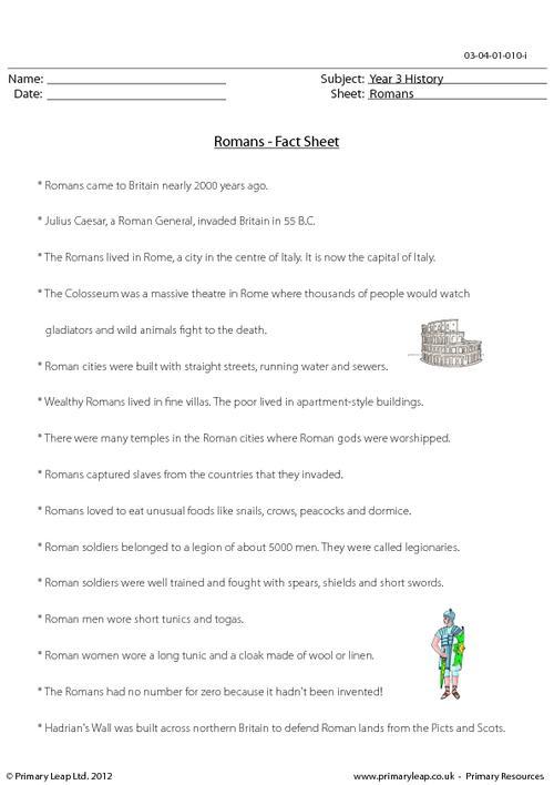 Romans - Fact sheet