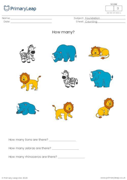 How many? (wild animals)