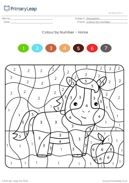 Colour by numbers - Horse