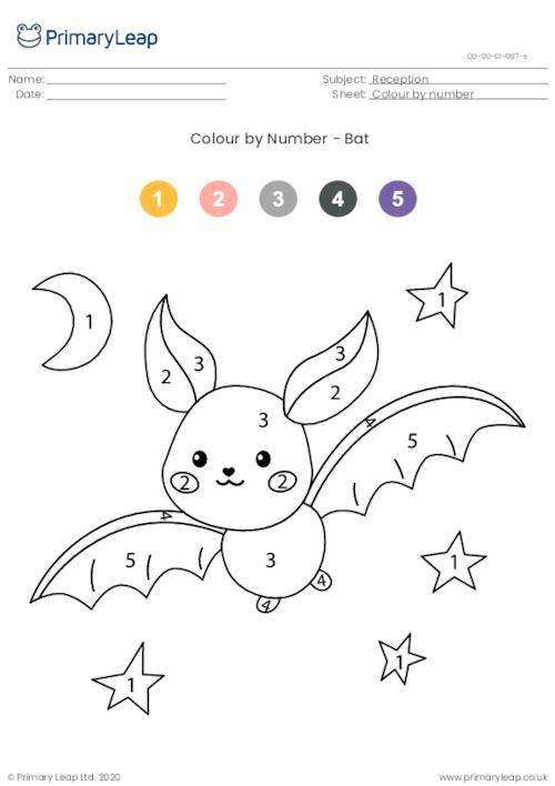 Colour By Number - Bat
