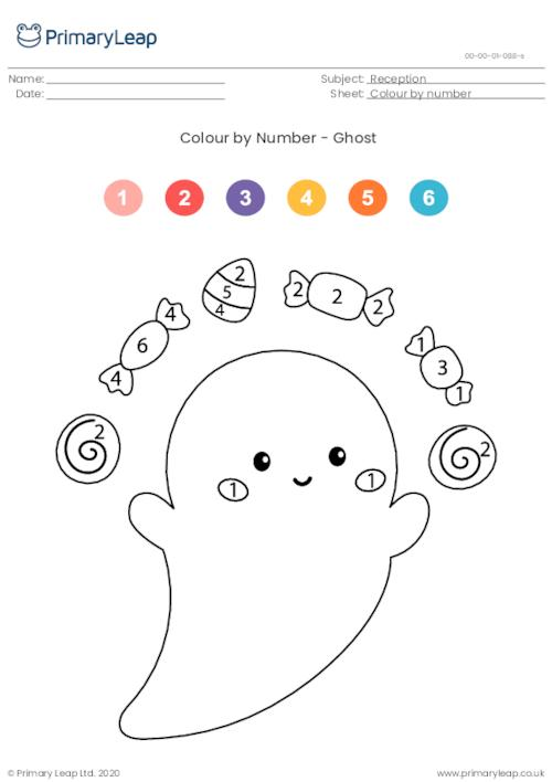 Colour By Number - Ghost