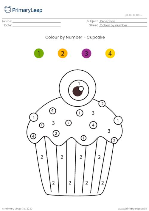 Colour By Number - Cupcake