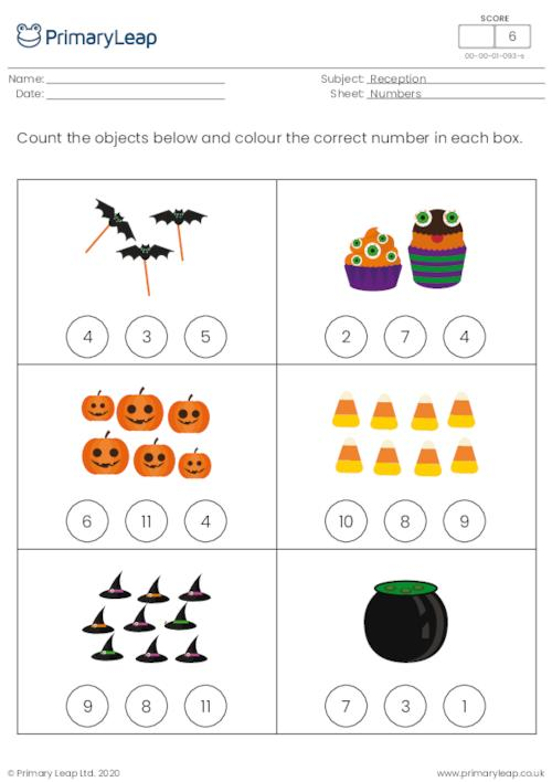 Halloween count and colour - How many...? 1