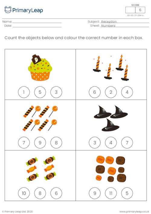 Halloween count and colour - How many...? 2