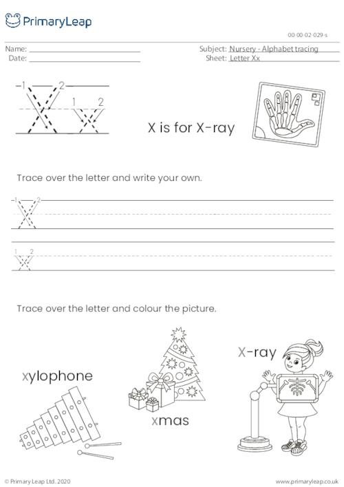 Alphabet tracing - Letter Xx