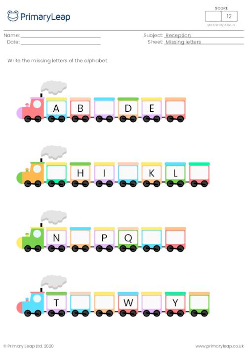 Missing letters - The alphabet
