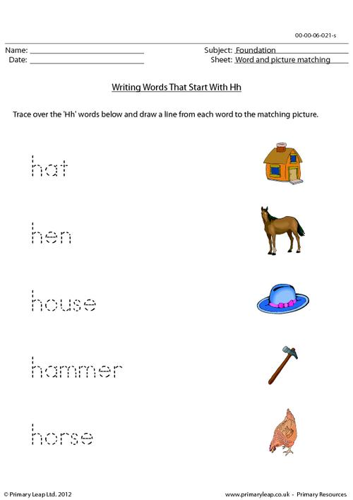 Words starting with Hh