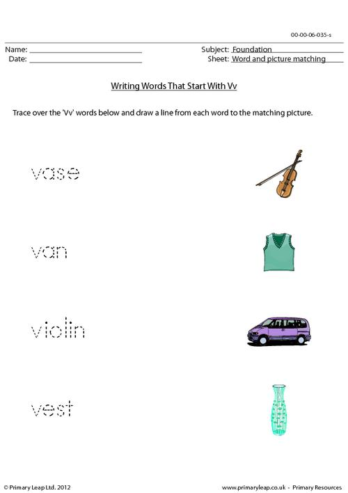 Words starting with Vv