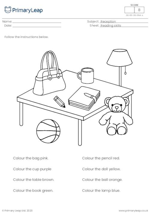 Read and colour - Follow the instructions