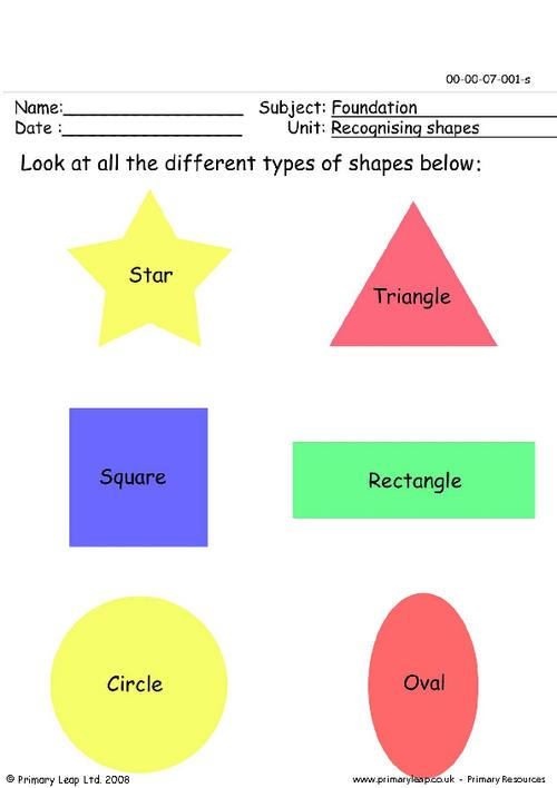 Recognising shapes