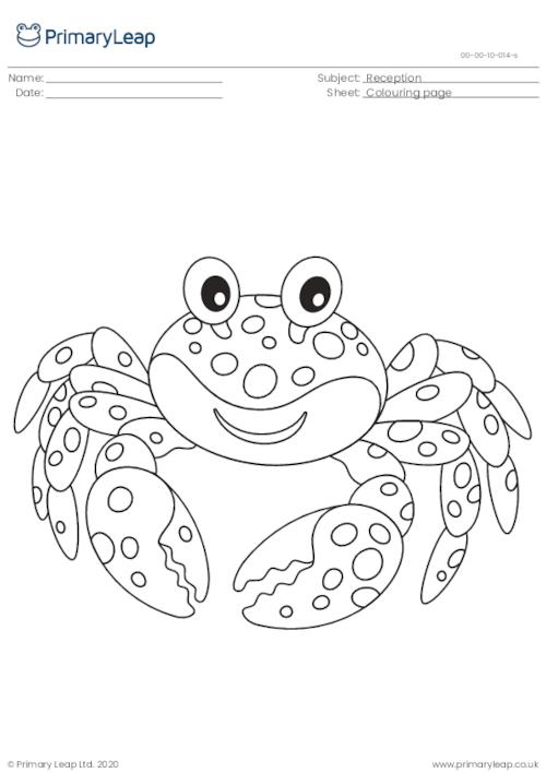 Colouring page - Crab