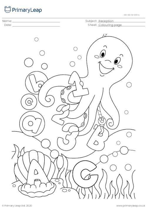 Colouring page - Octopus
