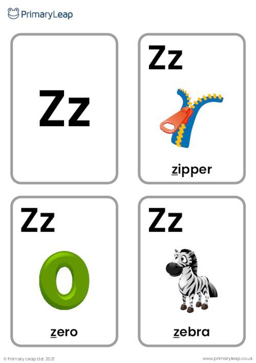 Z sound flashcards