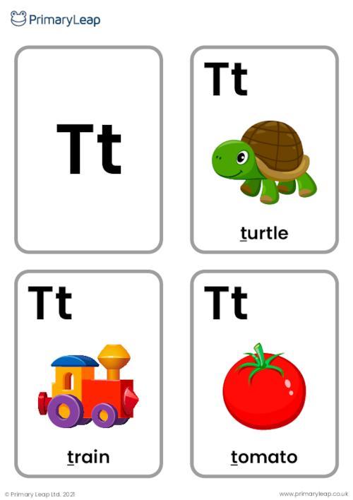 T sound flashcards