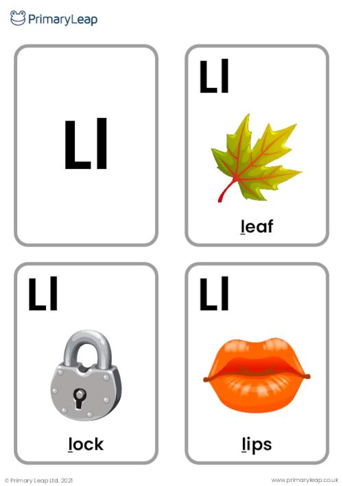 L sound flashcards