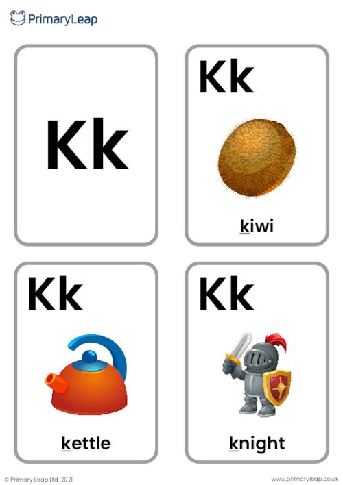K sound flashcards