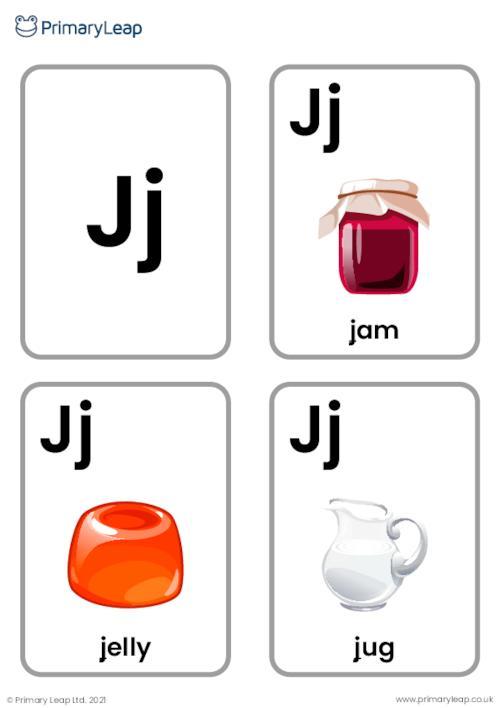 J sound flashcards