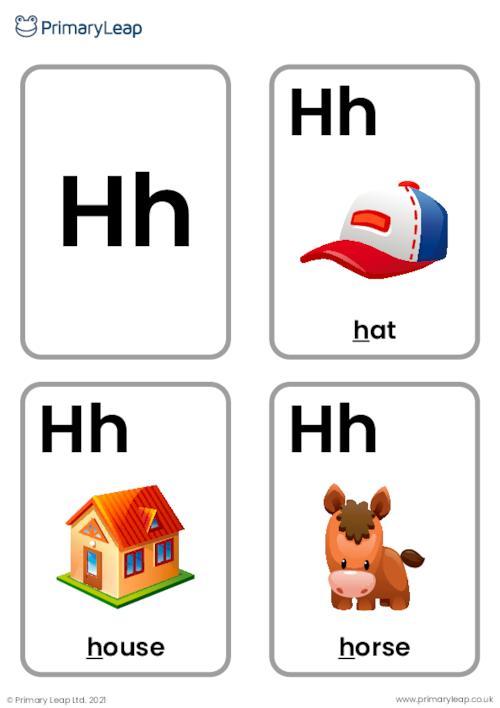 H sound flashcards