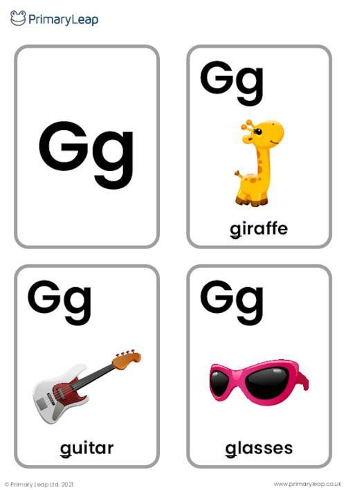 G sound flashcards