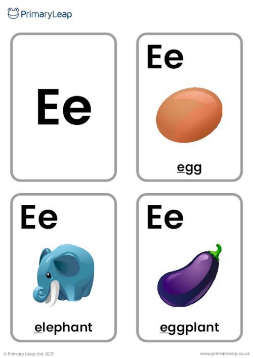 E sound flashcards