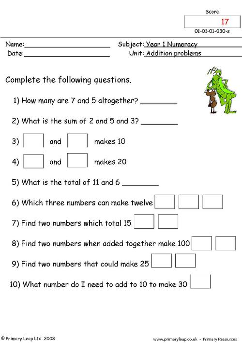 Addition problems 2