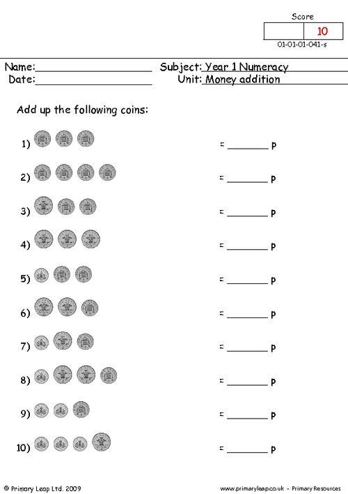 Money Addition 2
