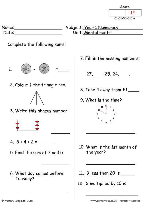 Mental maths 13