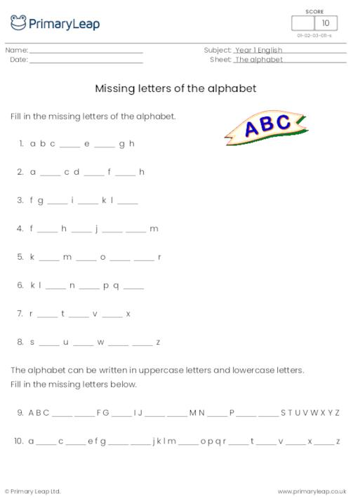The alphabet 1