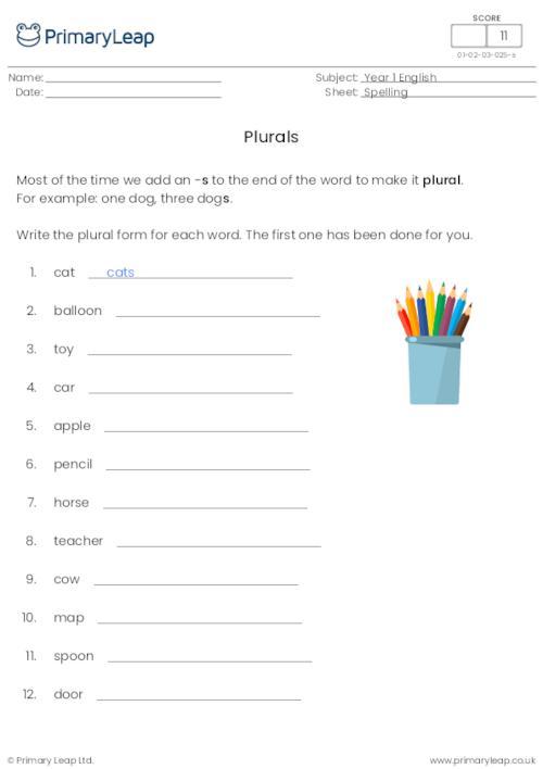Plurals 1