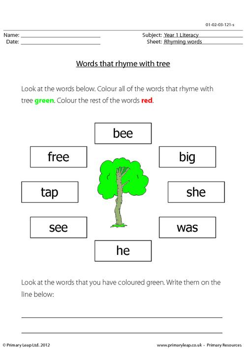 Words that rhyme with 'tree'