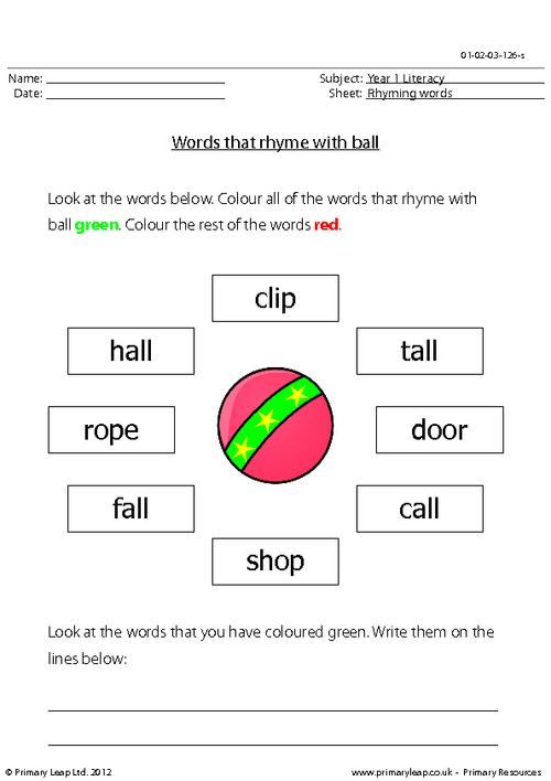 Words that rhyme with 'ball'
