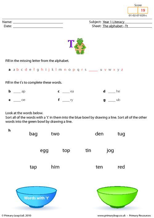 The alphabet - Tt