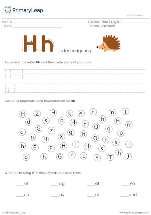 Alphabet practise - Letter H