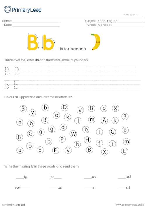Alphabet practise - Letter B