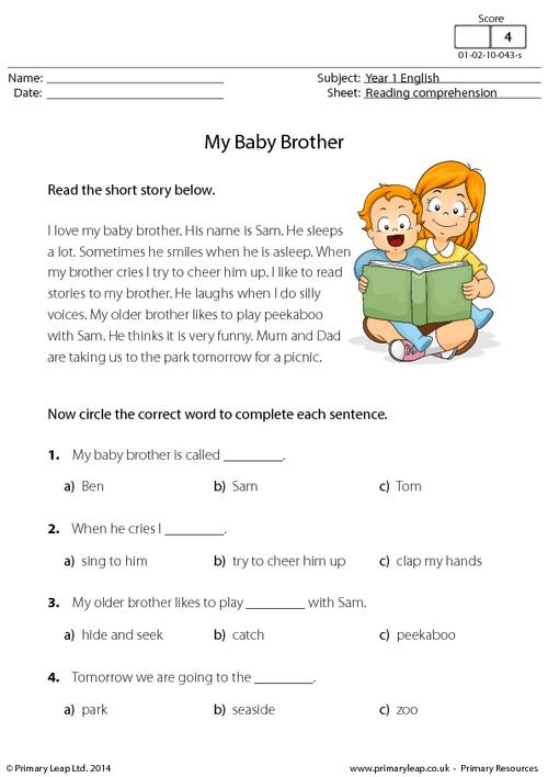 Reading comprehension - My Baby Brother
