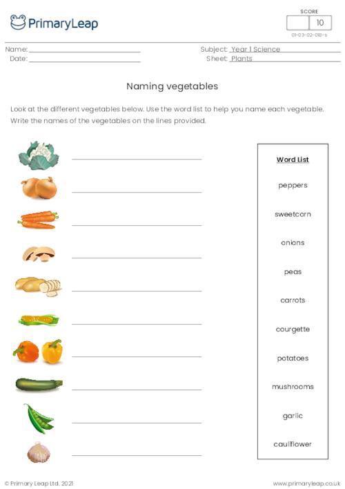 Naming vegetables