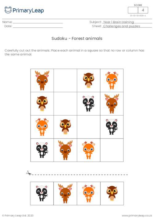 Sudoku - Forest animals