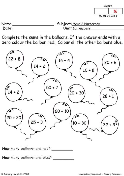 10 numbers
