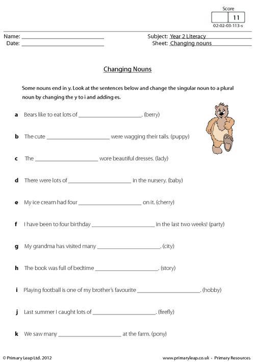Changing nouns