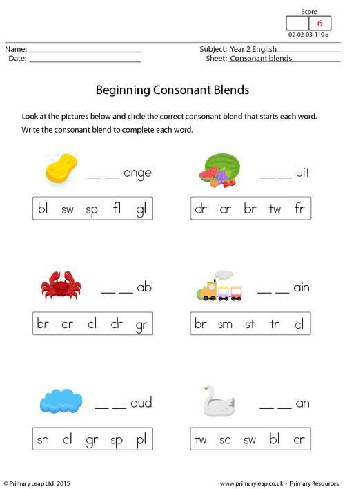 Beginning Consonant Blends (2)
