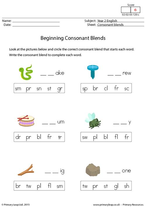 Beginning Consonant Blends (3)