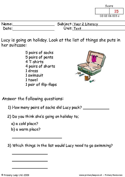 Lucy's holiday