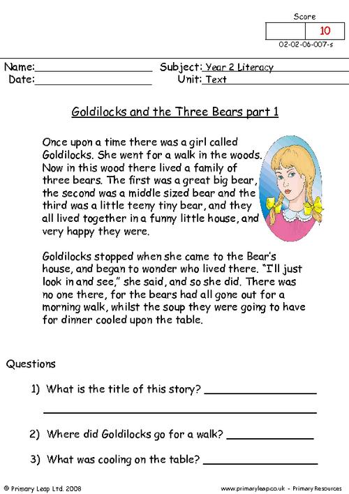 Goldilocks and the three bears part 1