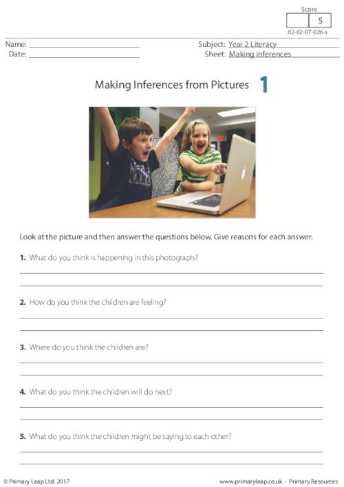 Making Inferences from Pictures 1