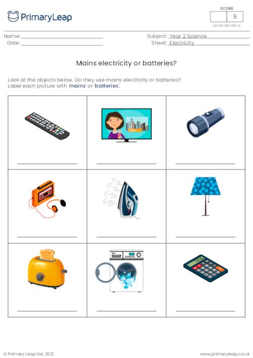 Mains electricity or batteries