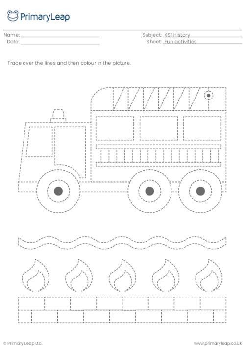 Line tracing - Fire engine