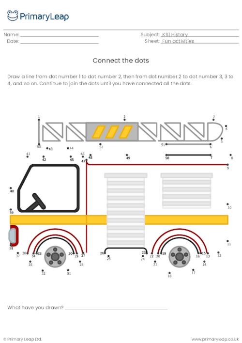 Connect the dots - Fire engine