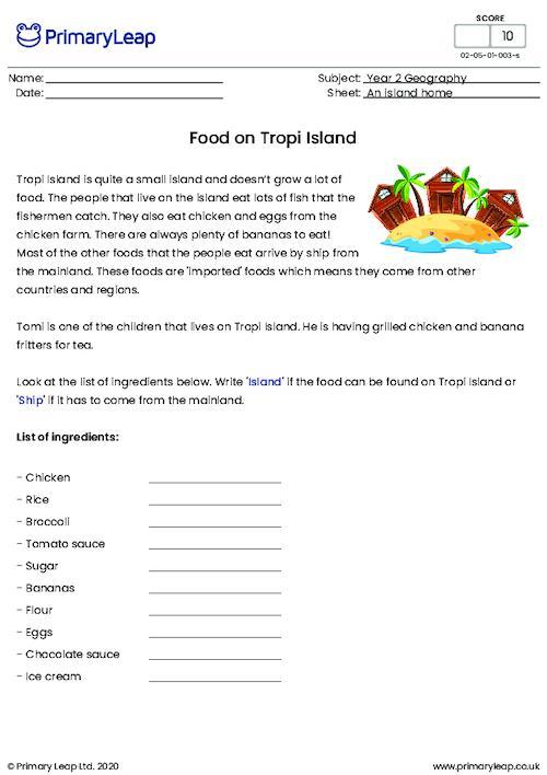 Food on Tropi island