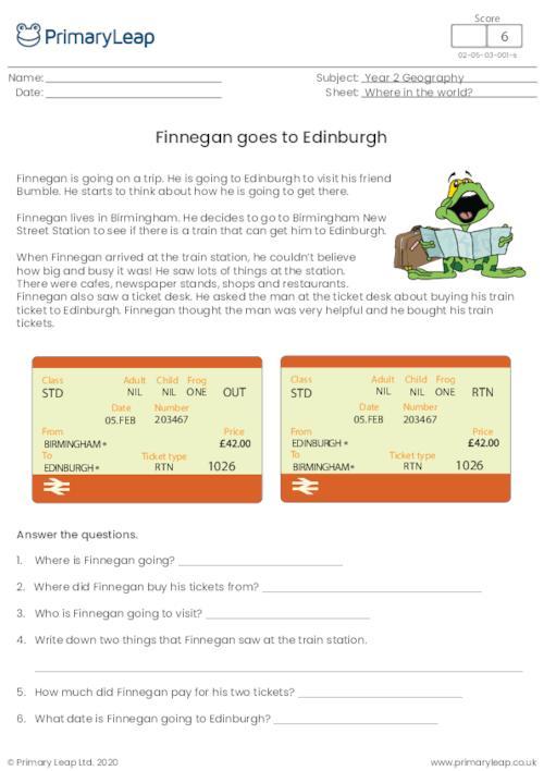 Finnegan goes to Edinburgh